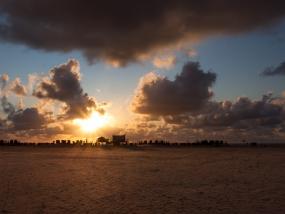 Sonnenuntergang am Strand von St. Peter-Ording