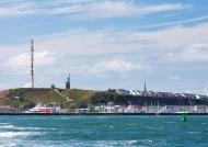 Helgoland vom Meer aus gesehen