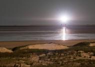 Leuchtturm Westerheversand bei Vollmond