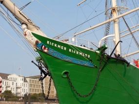 """Das Museumsschiff """"Rickmer Rickmers"""" im Hamburger Hafen"""
